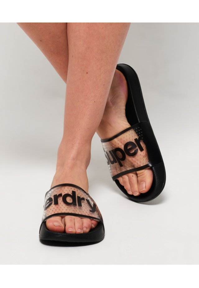 POOL SLIDE - Sandały kąpielowe - black