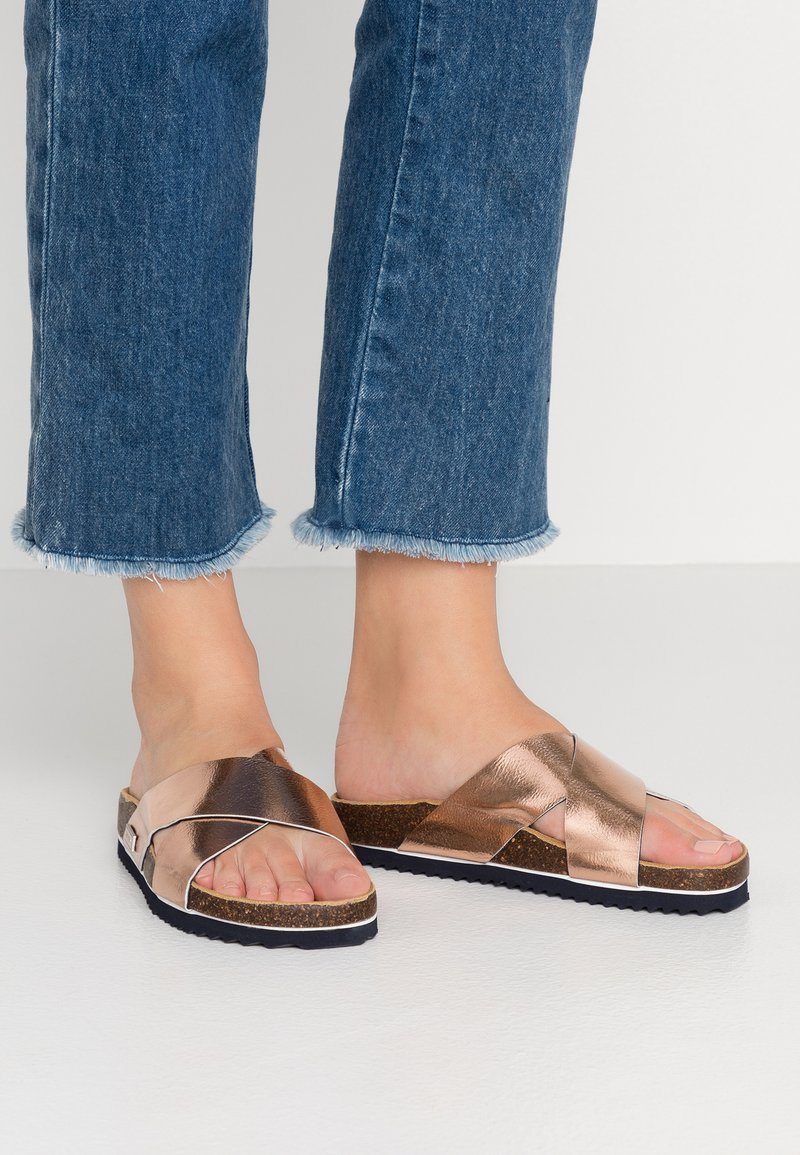 Superdry - LUXE SLIDE - Sandaler - rose gold