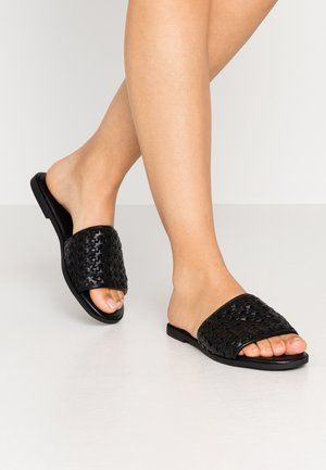 WIDE FIT  - Mules - black