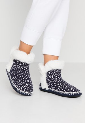 SLIPPER BOOT - Pantofole - navy