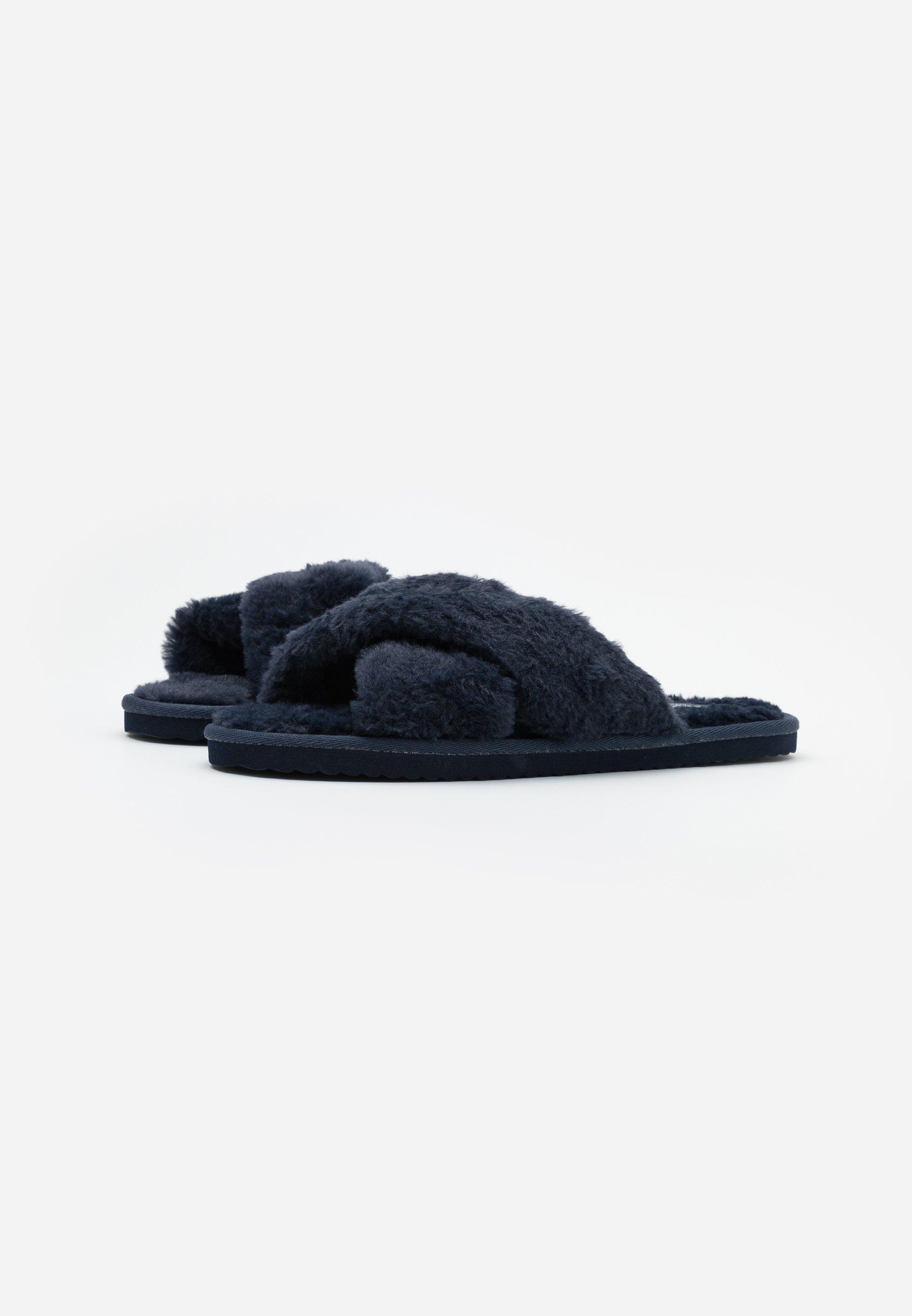Superdry Slide - Pantoffels Navy Goedkope Schoenen