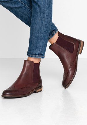 WIDE FIT - Botki - oxblood