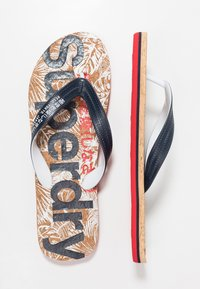 Superdry - Pool shoes - salute navy/high risk red - 1