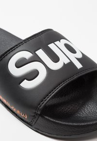 Superdry - POOL SLIDE - Badesandale - optic black/optic white/hazard orange - 6