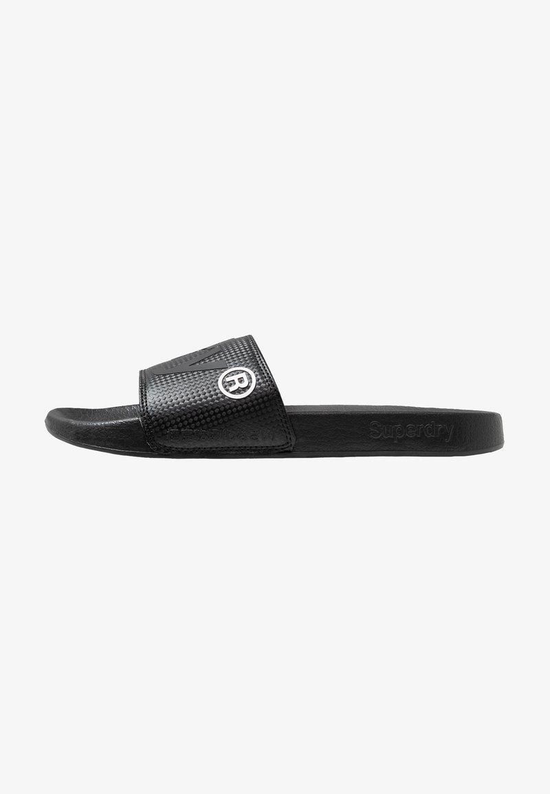 Superdry - POOL SLIDE - Pantolette flach - black