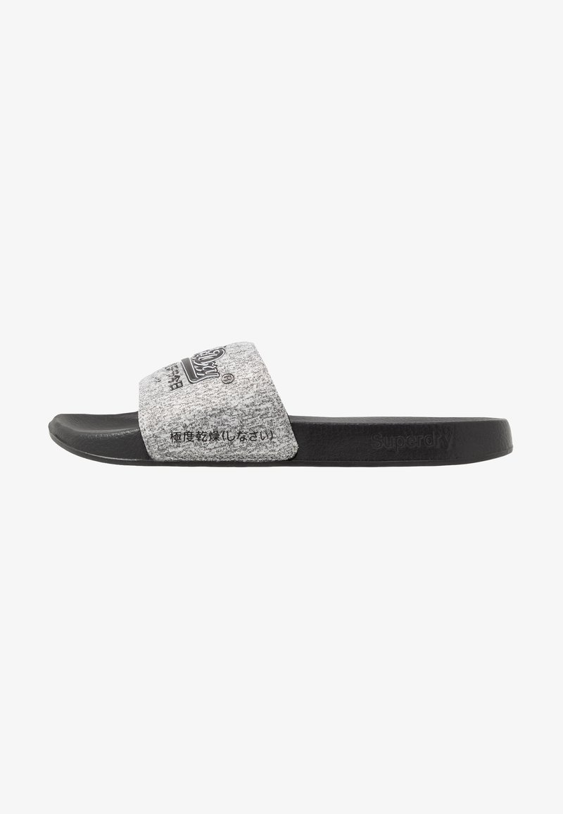 Superdry - VINTAGE LOGO POOL SLIDE - Mules - dark grey