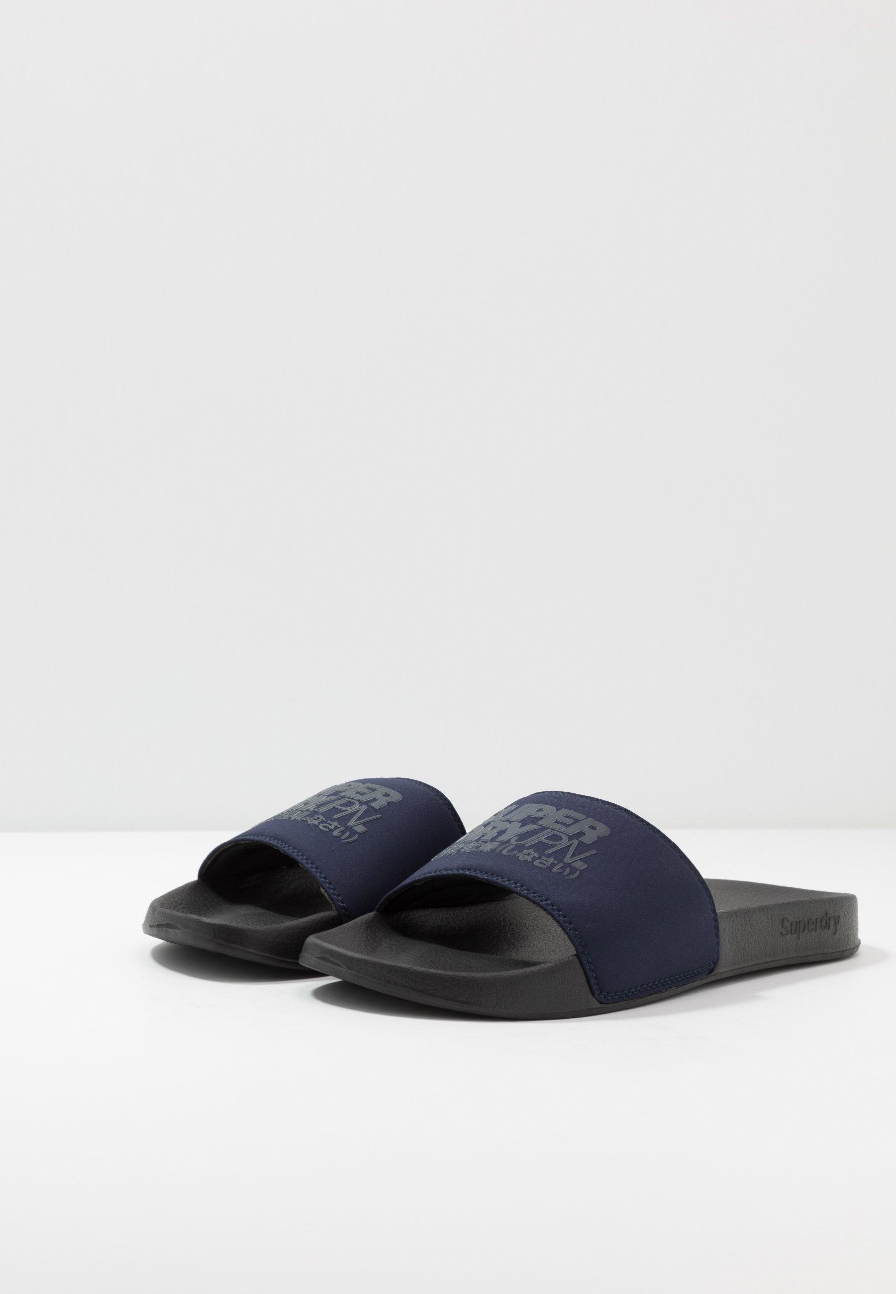 Superdry Sorrento Pool Slide - Mules Black/nautical Navy