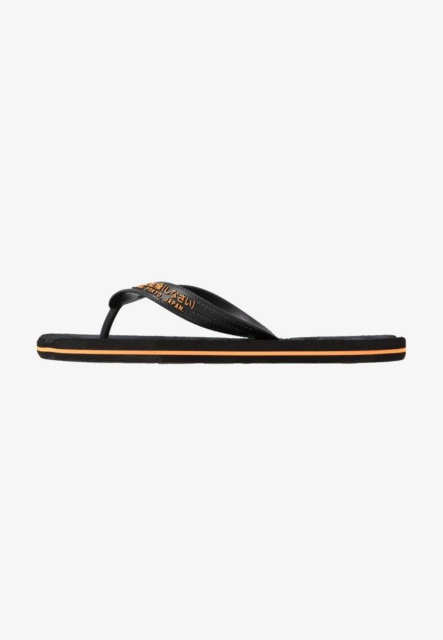 SCUBA INFIL  - Pool shoes - black/fluro orange