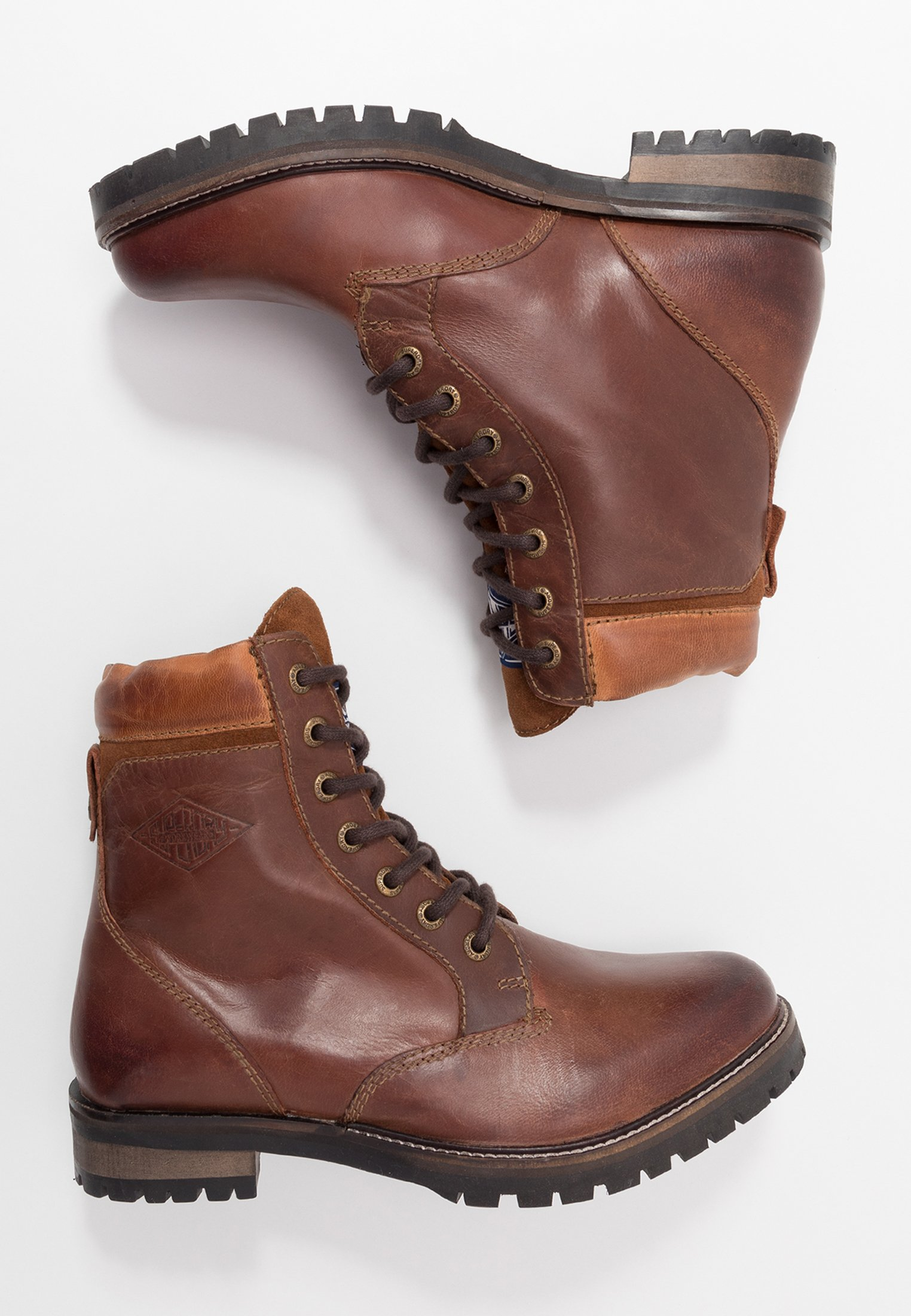 Superdry Ripley Lace Up Boot - Snørestøvletter Red Brown