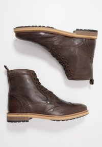 Superdry - SHOOTER BOOT - Lace-up ankle boots - brown - 1