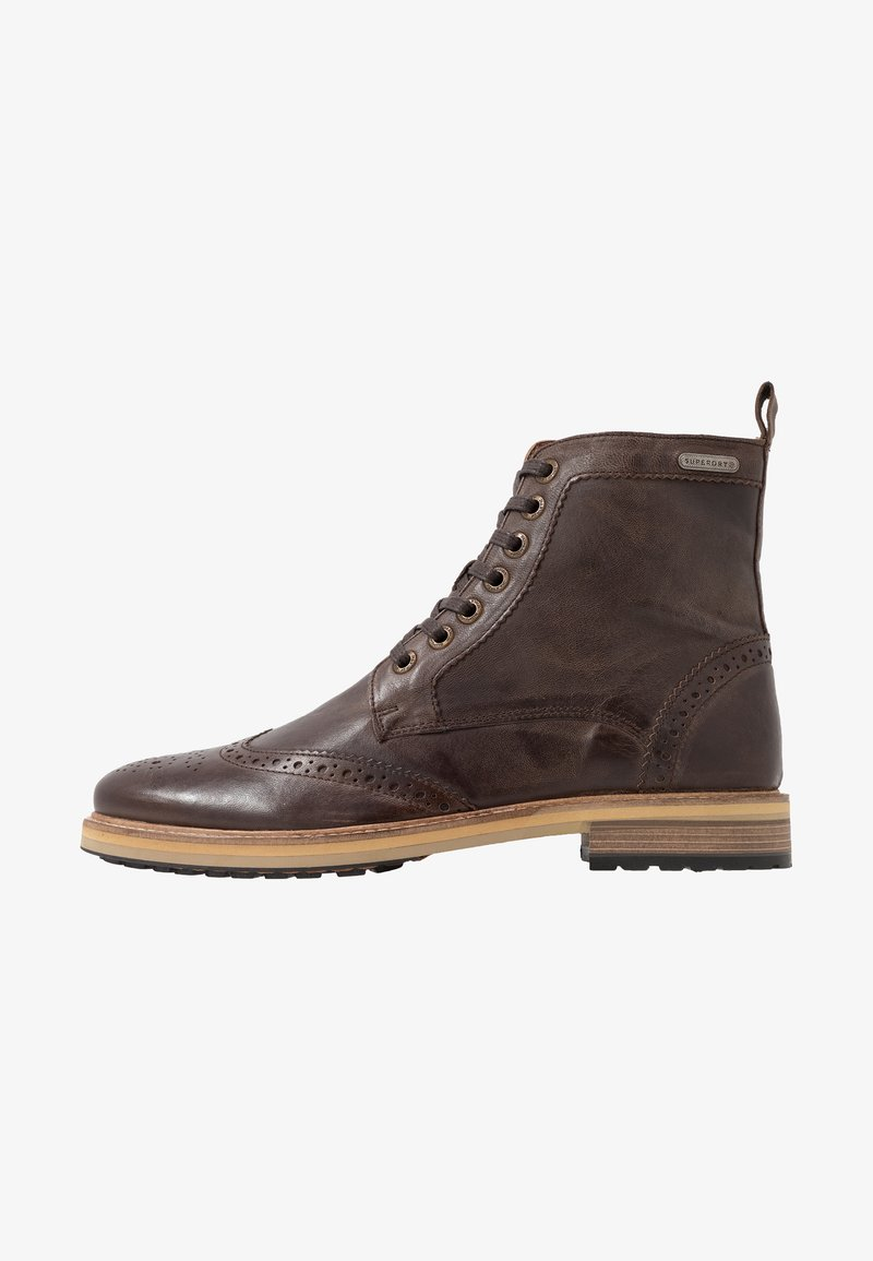 Superdry - SHOOTER BOOT - Lace-up ankle boots - brown