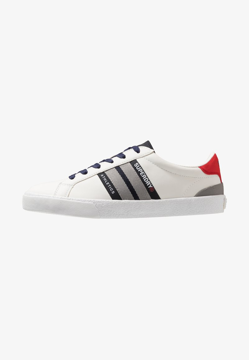 Superdry - VINTAGE COURT TRAINER - Sneaker low - optic white/dark navy/state red