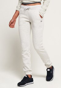 Superdry - ATHLETIC - Spodnie treningowe - mottled gray - 0