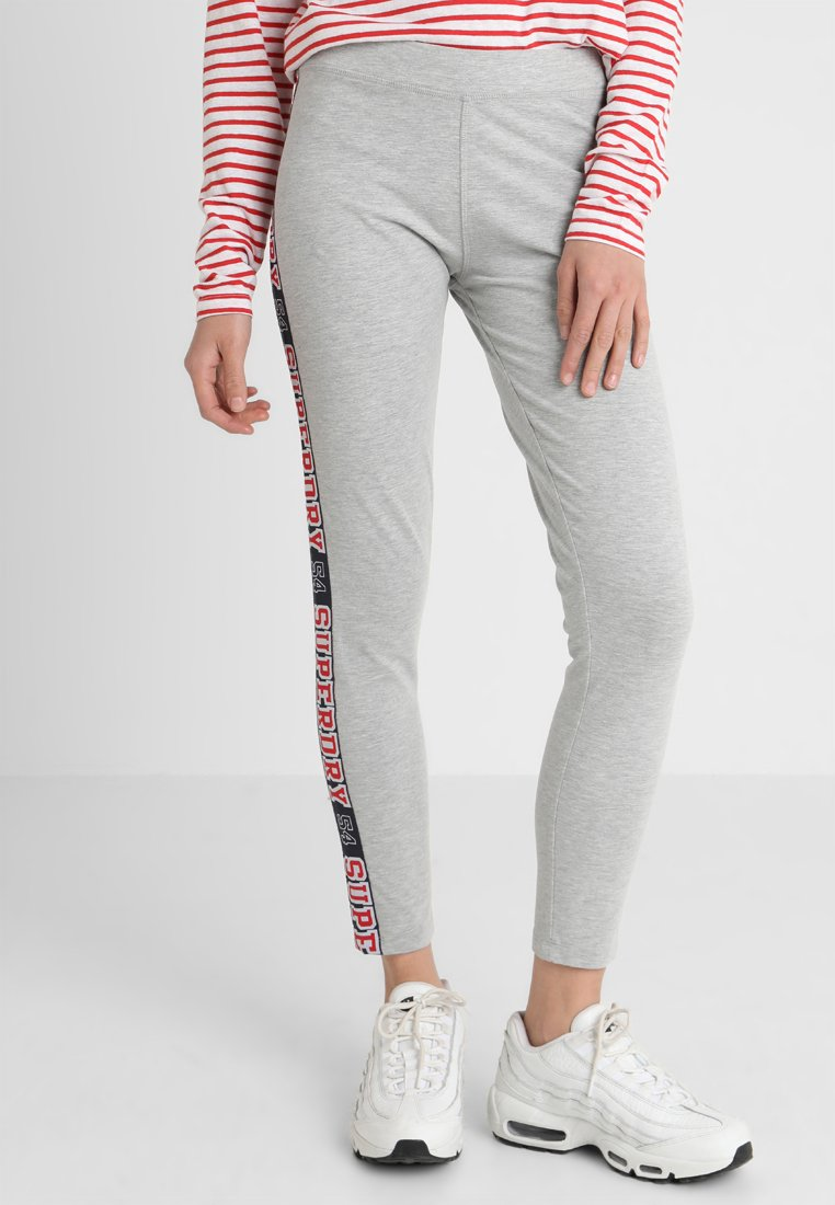 Superdry - PLAYOFF TAPE - Leggings - Trousers - centre back grey marl
