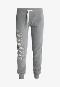 Superdry - TRACK AND FIELD  - Spodnie treningowe - dark grey marl - 3