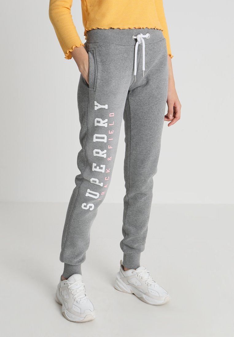 Superdry - TRACK AND FIELD  - Spodnie treningowe - dark grey marl