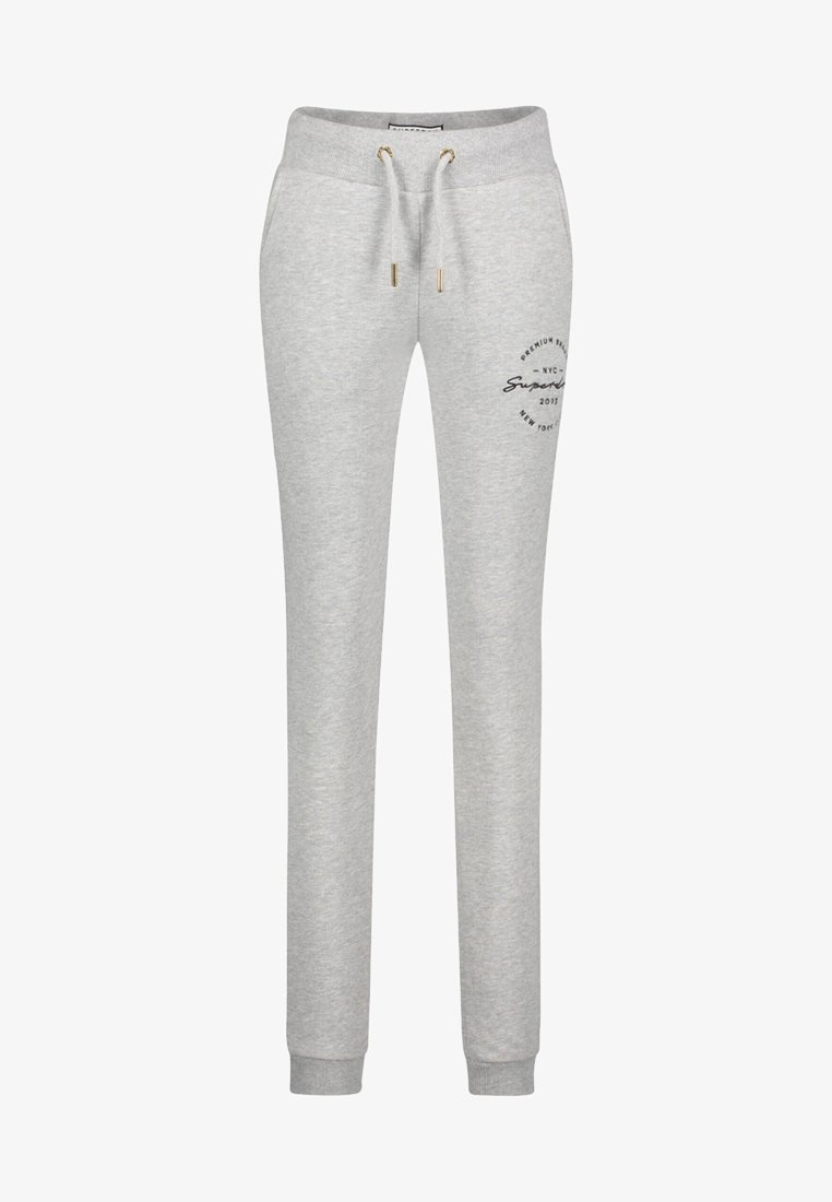 Superdry - APPLIQUE JOGGERS - Tracksuit bottoms - grey