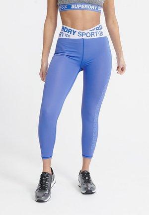 SUPERDRY TRAINING CROSS 7/8 LEGGINGS - Legging - 70s blue