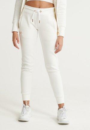 SUPERDRY ORANGE LABEL ELITE JOGGERS - Pantalon de survêtement - rodeo white