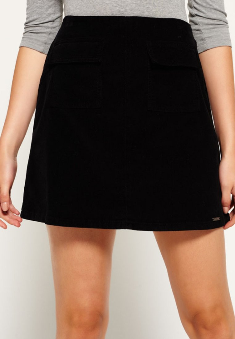 Superdry - BILLIE - Mini skirt - black
