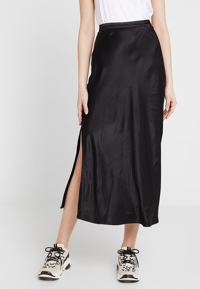 Superdry - JERRY SKIRT - Maxi skirt - black