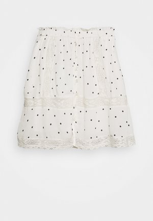ELLISON TEXTURED SKIRT - Mini skirt - white