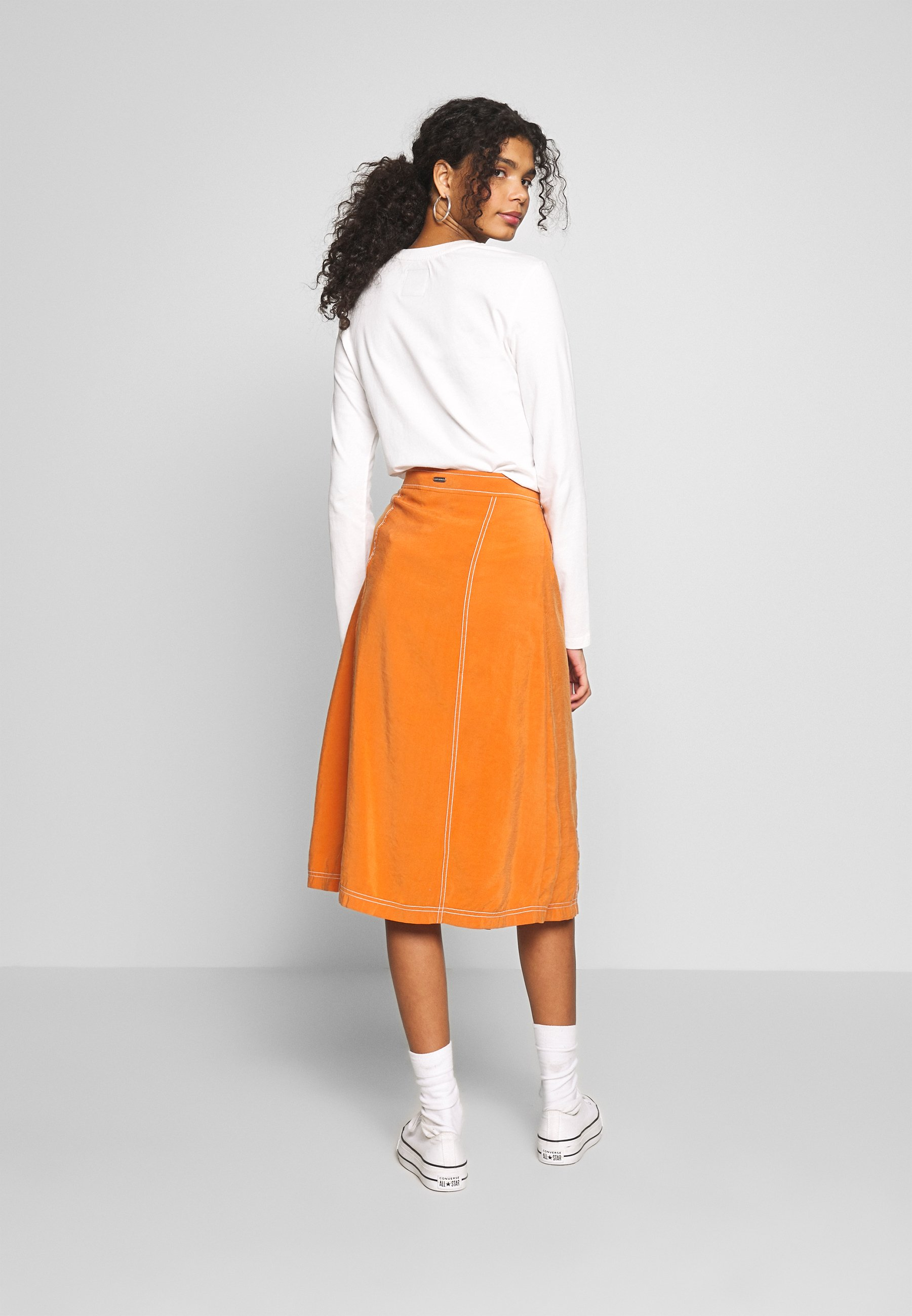 Superdry VALLEY MIDI SKIRT - Spódnica trapezowa - rust