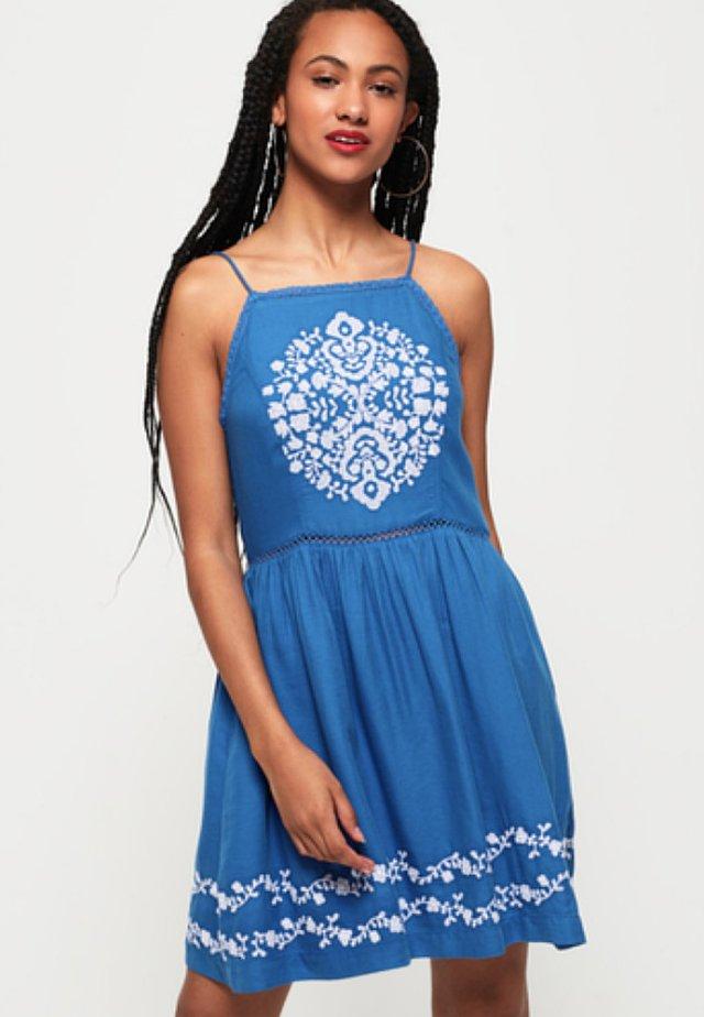 KATALINA APRON DRESS - Vestido informal - blue