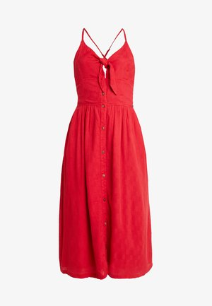 JAYDE TIE FRONT MIDI DRESS - Robe chemise - nautical red