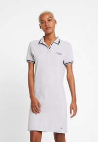 Superdry - POLO DRESS - Day dress - soft grey marl - 0