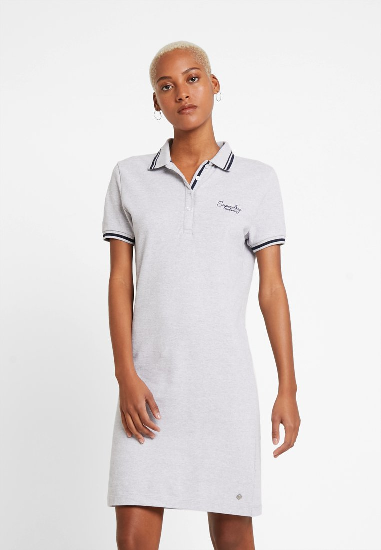 Superdry - POLO DRESS - Day dress - soft grey marl