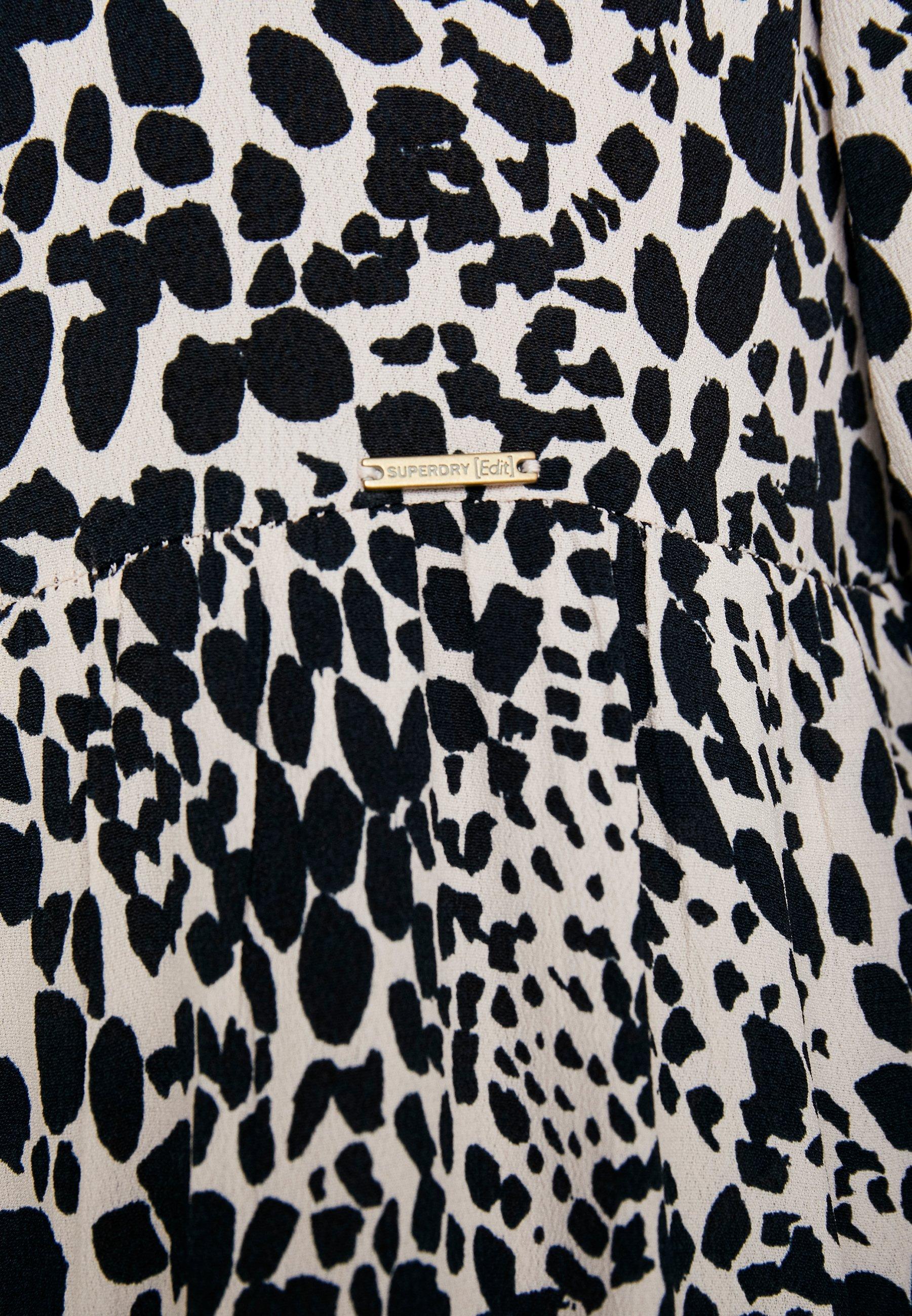 Superdry SCANDI DRESS - Sukienka letnia - light pink/black