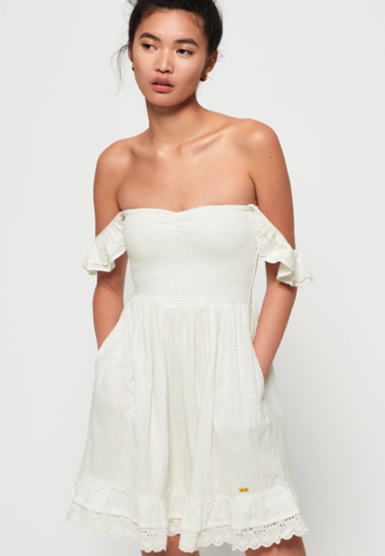 Superdry - ADRIANNA - Sukienka koktajlowa - white