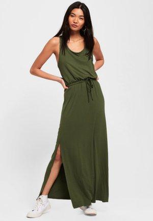 MIT AZTEKEN-STICKEREI - Długa sukienka - dark green