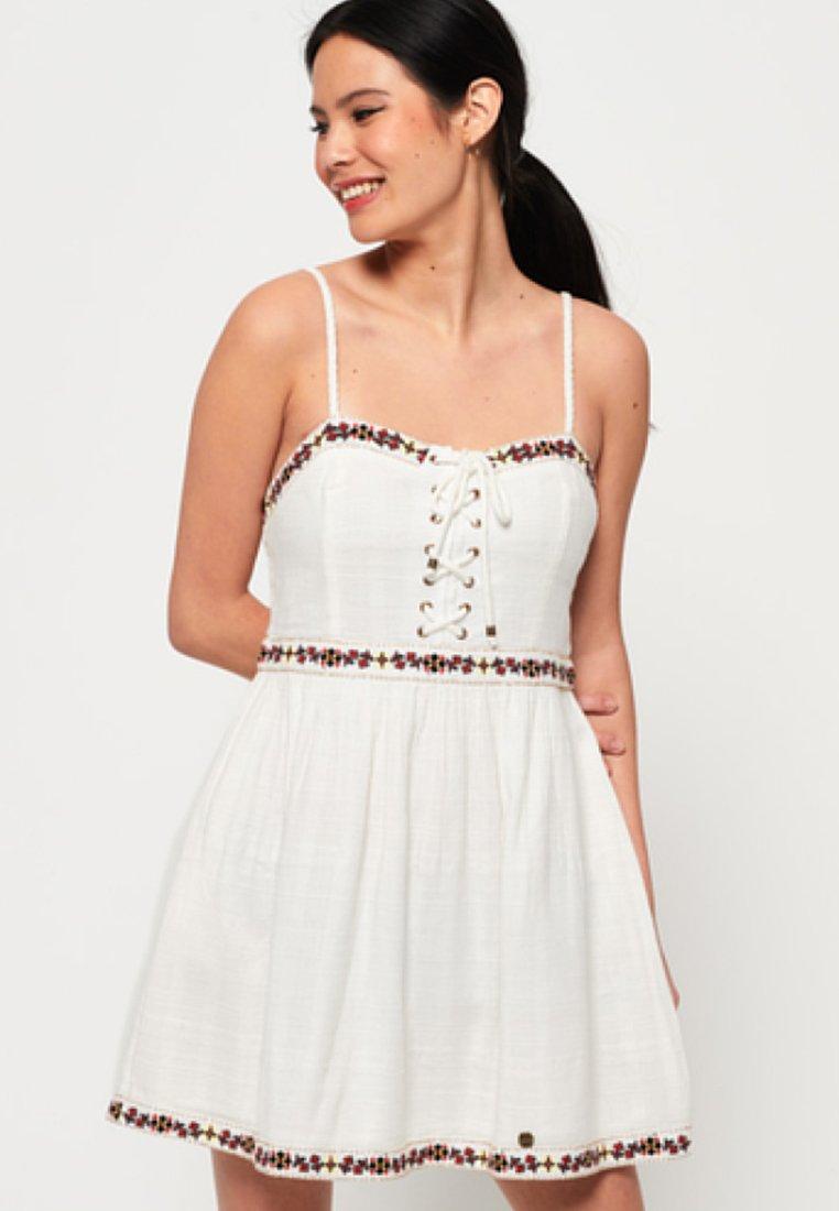 Superdry Robe d'été - blanc white