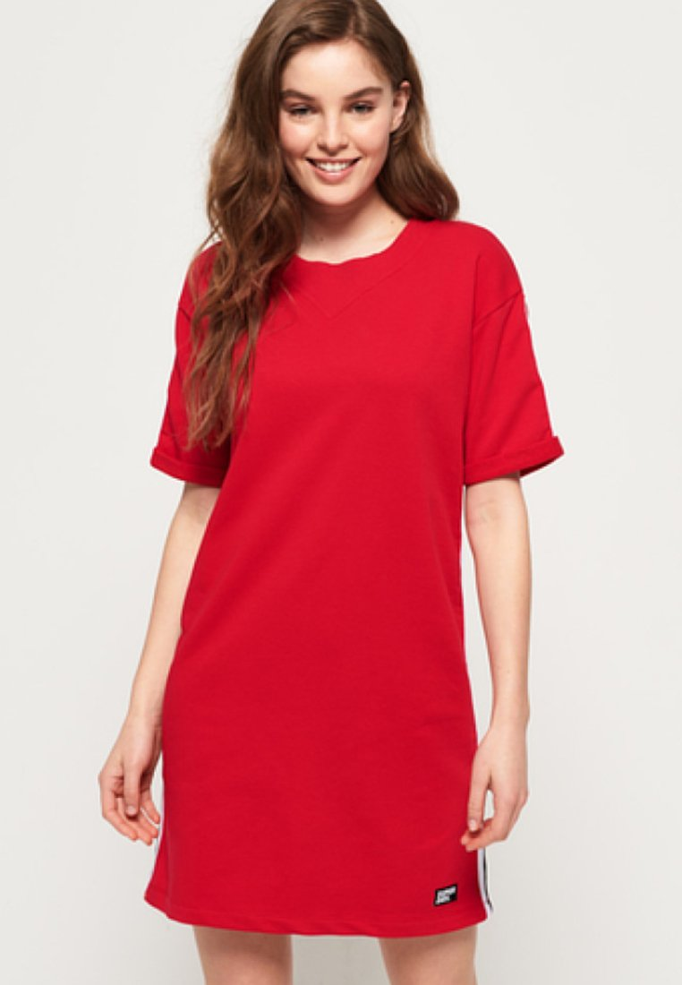 Superdry - Jersey dress - red