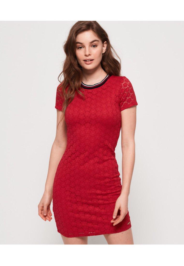 Superdry - Sukienka letnia - red