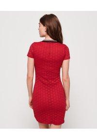 Superdry - Sukienka letnia - red - 2