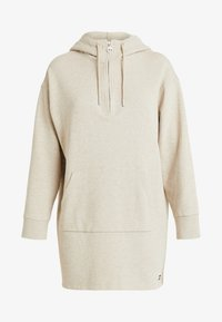 Superdry - ZIP FRONT DRESS - Vapaa-ajan mekko - soft camel - 4