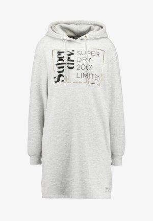 OVERSIZED HOODED DRESS - Vestito estivo - grey marl