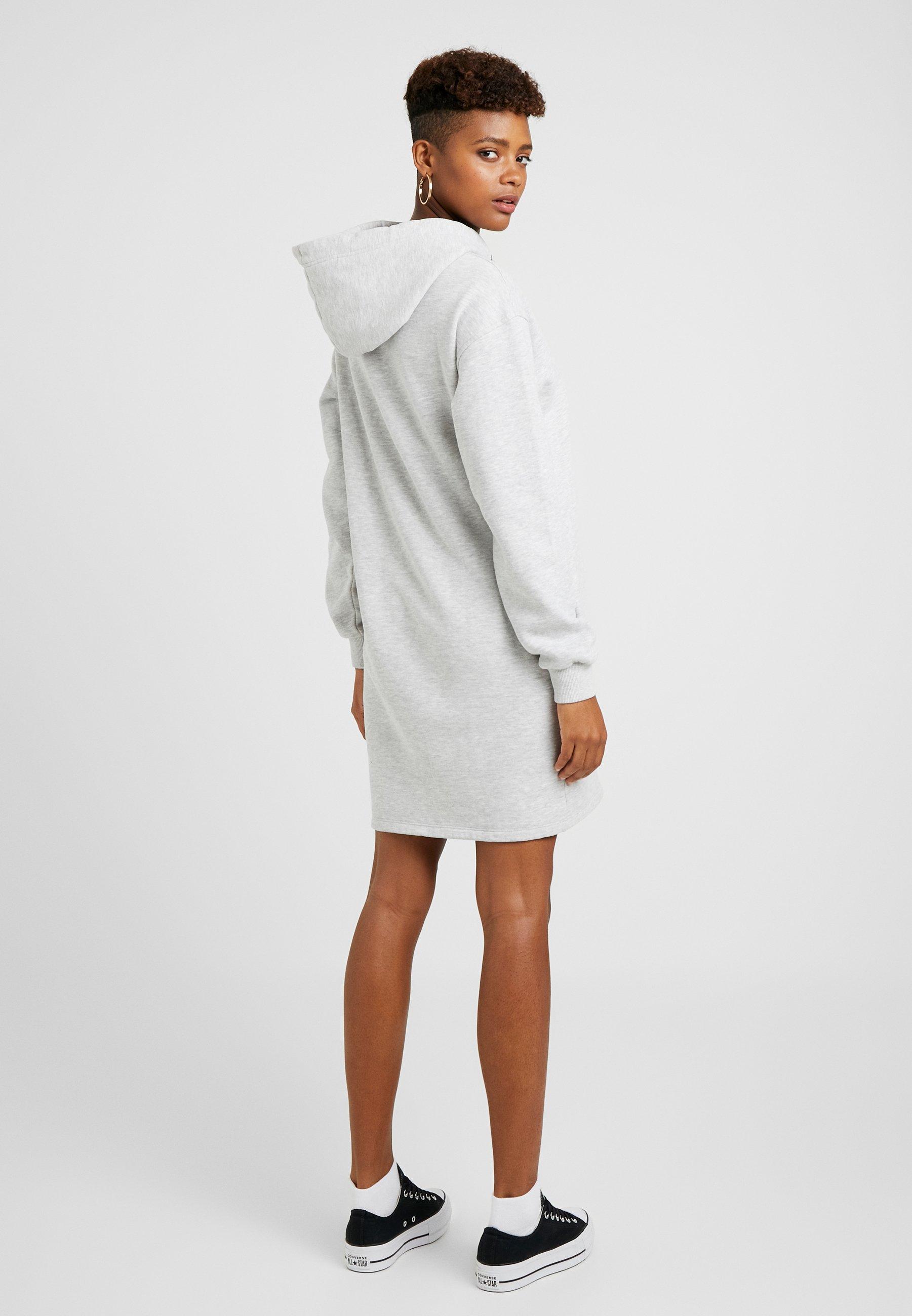 Superdry Grey Hooded Marl D'été DressRobe Oversized WEI9DH2