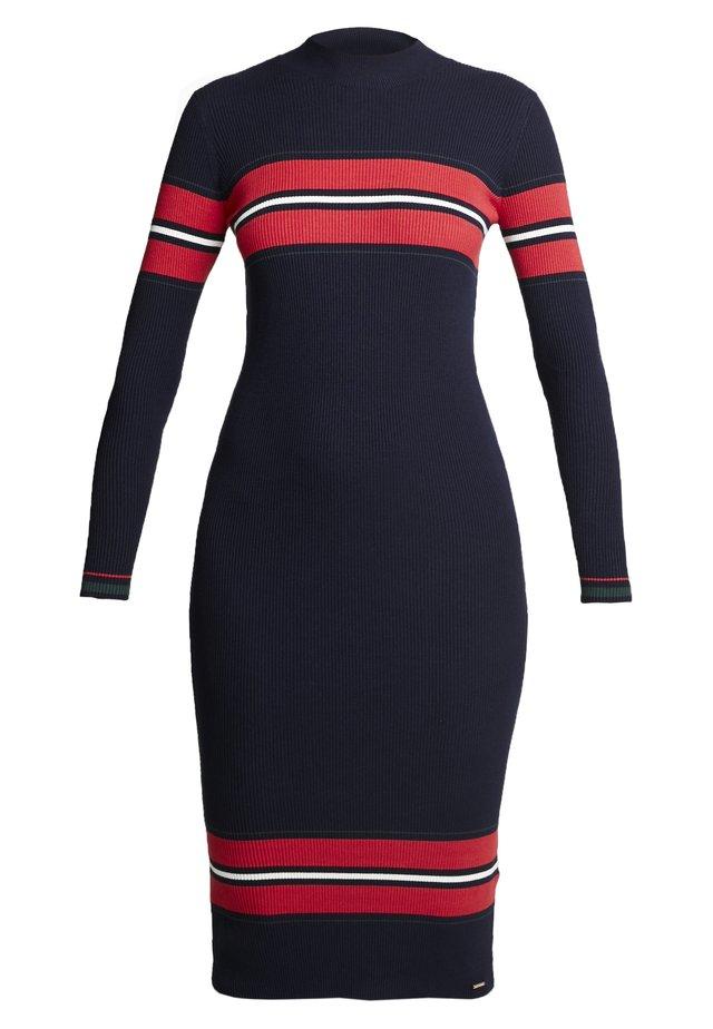 HALLIE BODYCON DRESS - Korte jurk - eclipse navy