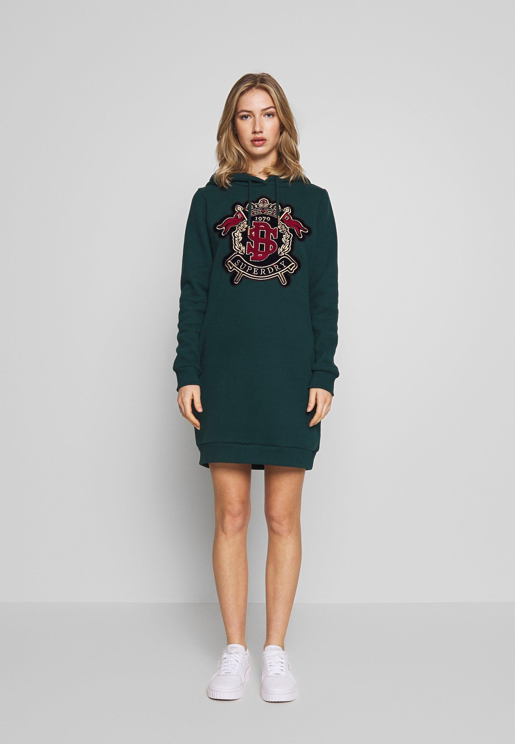 Superdry ADA EMBELISHEDSWEAT DRESS - Sukienka letnia - pine