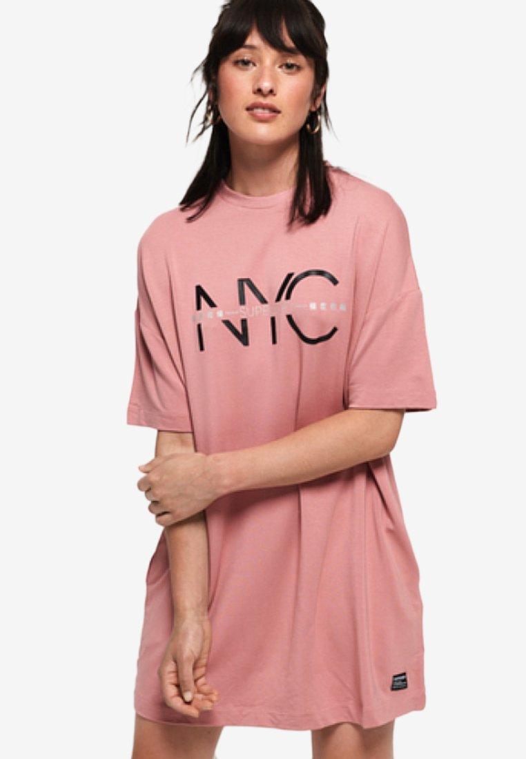 Superdry - BOYFRIEND - Jersey dress - rauchig rosé