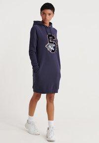 Superdry - Korte jurk - blue - 1