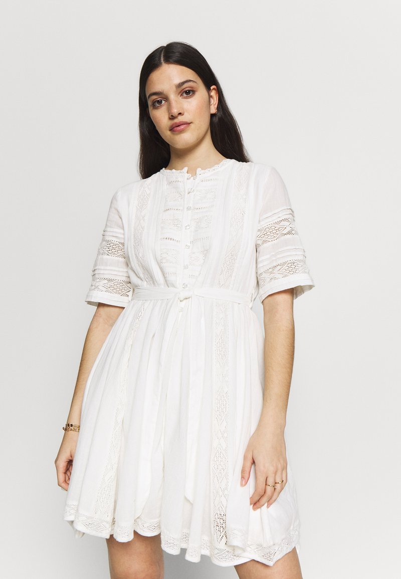 Superdry - ELLISON TEXTURED DRESS - Day dress - oyster