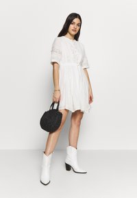 Superdry - ELLISON TEXTURED DRESS - Day dress - oyster - 2