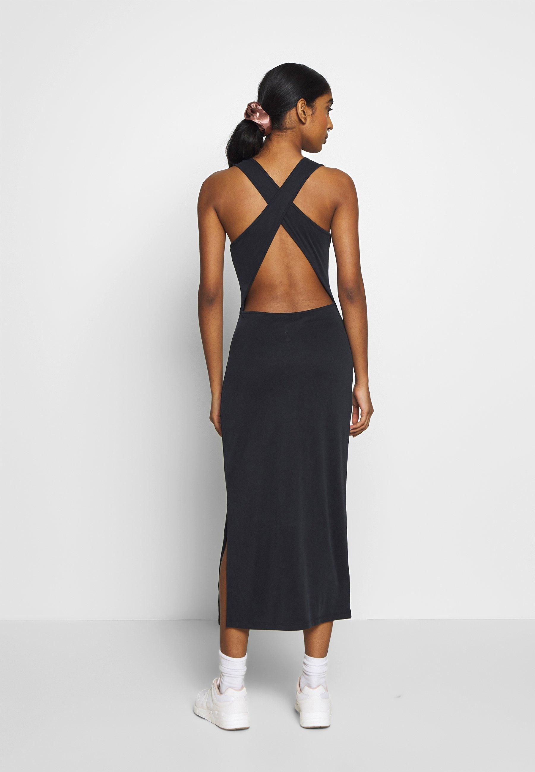 Superdry Arizona Cross Back Midi Dress - Jerseyklänning Black