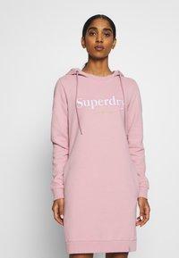 Superdry - HARPER HOODED  - Vapaa-ajan mekko - soft pink - 0