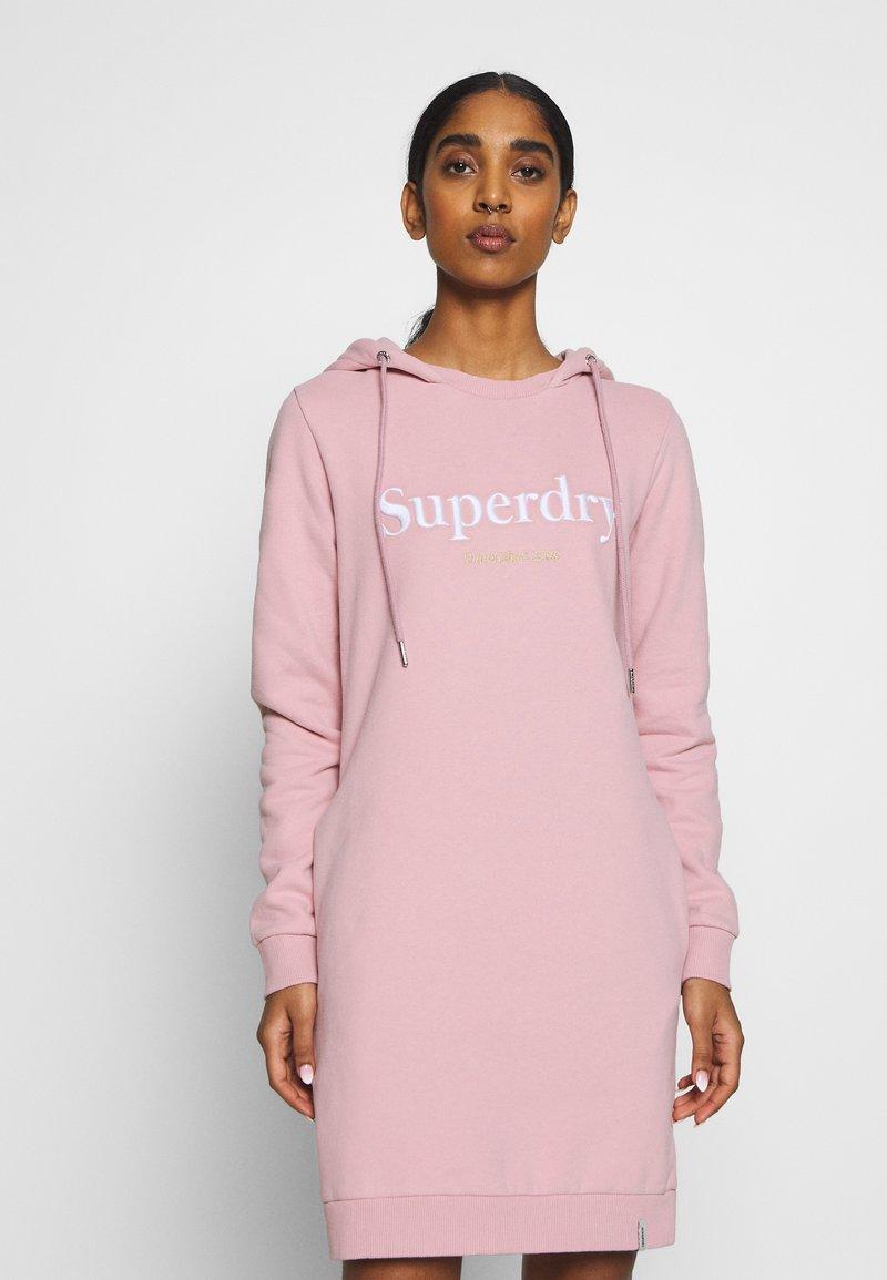 Superdry - HARPER HOODED  - Vapaa-ajan mekko - soft pink
